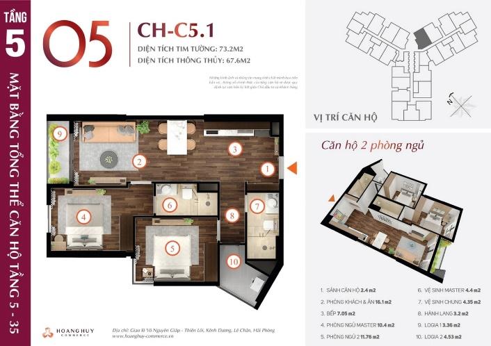 Khu căn hộ Hoàng Huy Commerce Hải Phòng 7