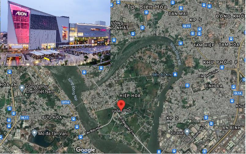 Aeon Mall Biên Hòa sẽ được xây dựng tại đâu?