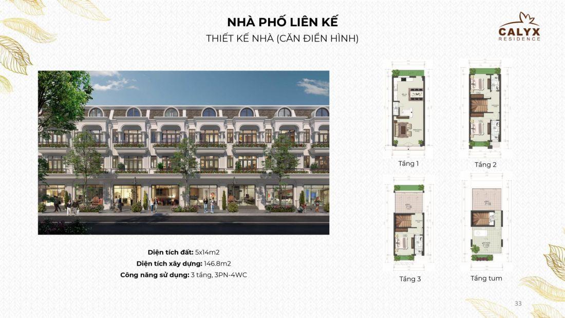 Nhà phố liên kếdự án Calyx Residence Đông Anh Hà Nội