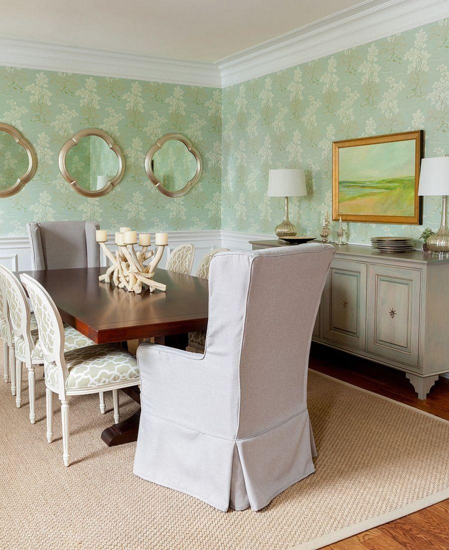 10 ý tưởng trang trí phòng ăn màu xanh mát mẻ và bắt mắt