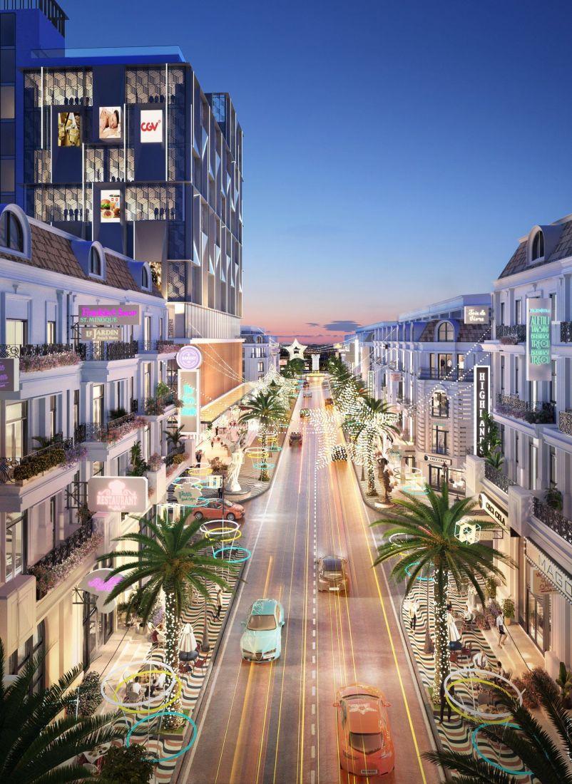 Tổ hợp nhà phố thương mại The Light City Đồng Xoài 7