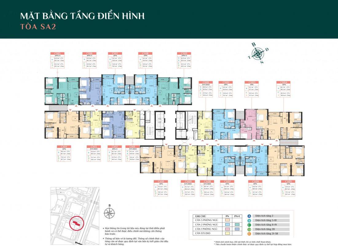 Phân khu The Sakura dự án căn hộ Metrolines Smart City Hà Nội
