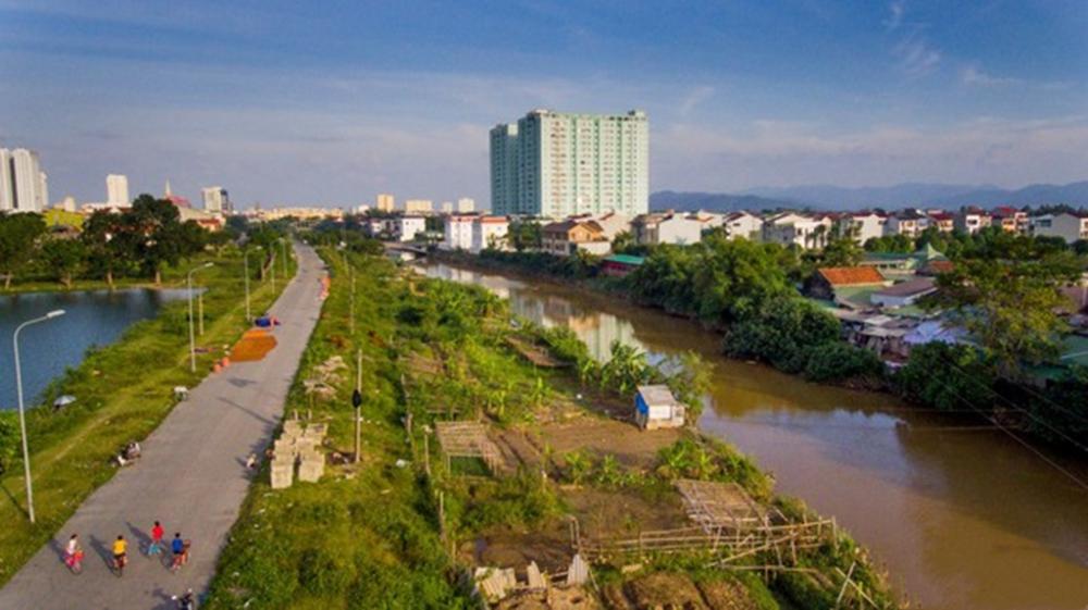 Khu dân cư ven sông Vinh, Nghệ An. Ảnh minh họa