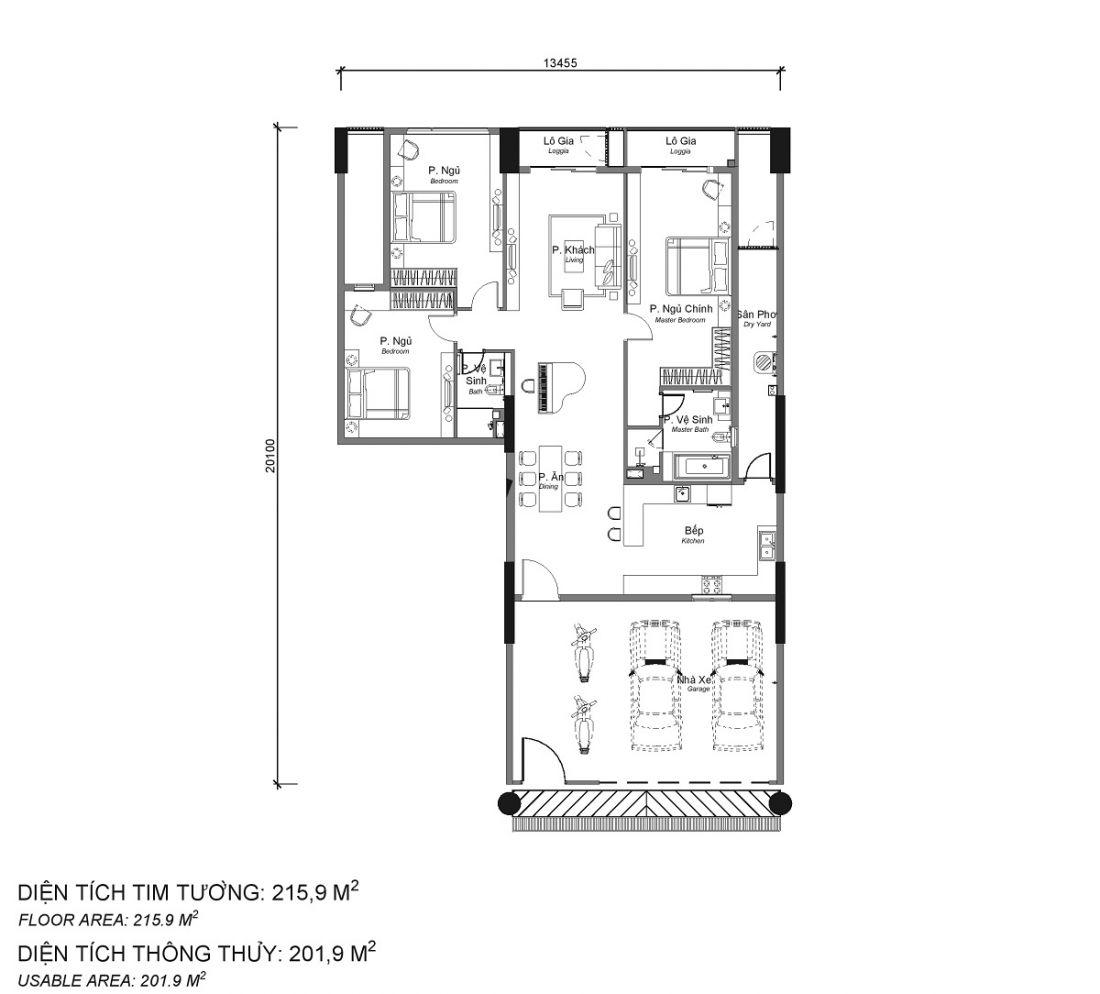 Thiết kế căn hộ Sky Linked Villa Tân Phú