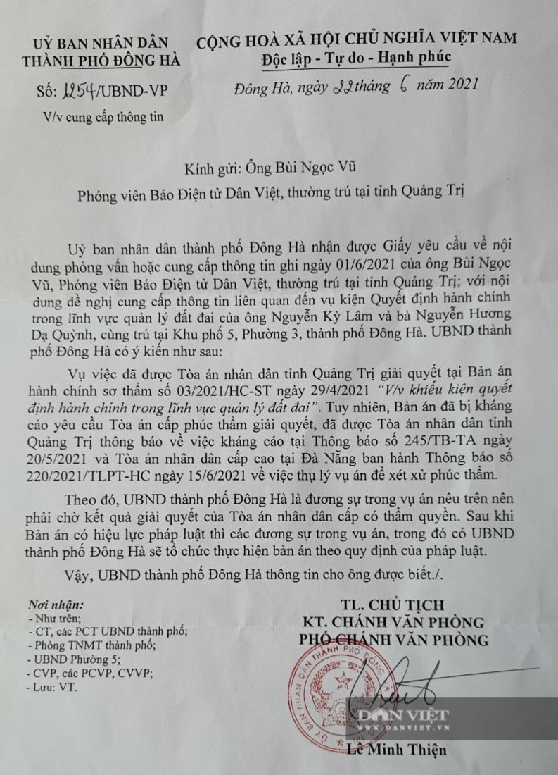 """Hai anh em mất đất vì phường chứng thực hợp đồng khống ở Quảng Trị: UBND TP.Đông Hà trả lời """"chờ tòa giải quyết"""" [NEW]"""