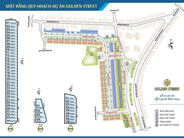 Nhà phố thương mại Golden Street Thái Nguyên
