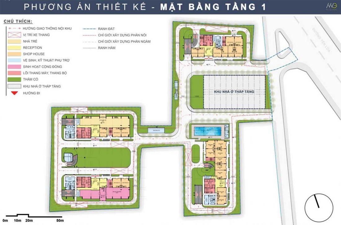 Mặt bằng dự án căn hộMoonlight Centre Point Bình Tân