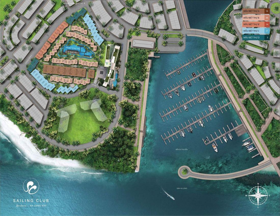 Tổ hợp biệt thự, nghỉ dưỡng Sailing Club Residences Hạ Long Bay