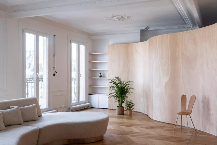 Vẻ đẹp ấn tượng của ván ép giúp không gian nội thất sang trọng và ấm áp 3
