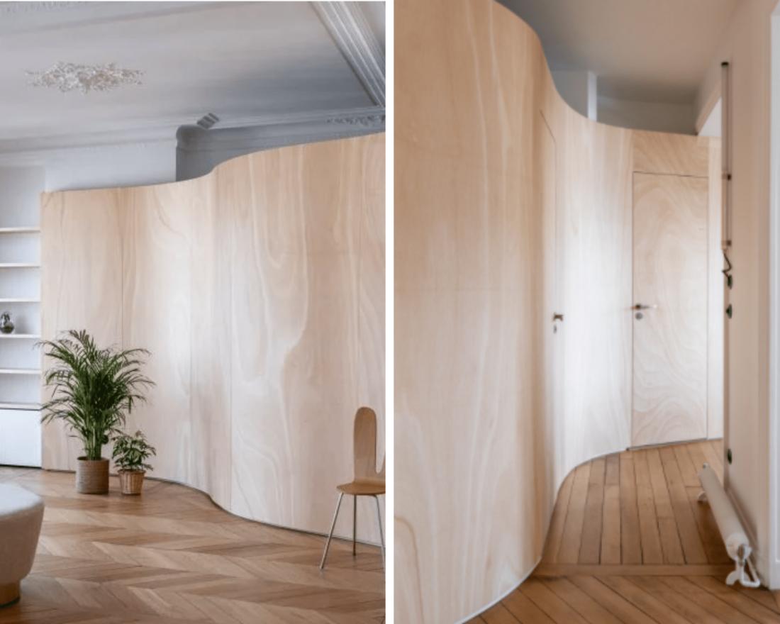 Vẻ đẹp ấn tượng của ván ép giúp không gian nội thất sang trọng và ấm áp 4