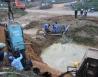 Đường ống nước sông Đà lại vỡ lần 8