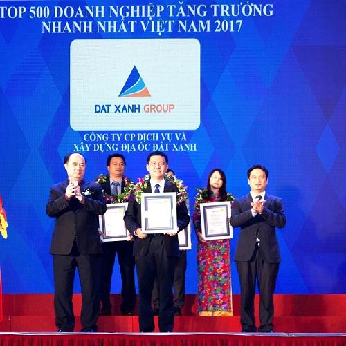 Đất Xanh lọt top 150 doanh nghiệp tăng trưởng nhanh nhất Việt Nam
