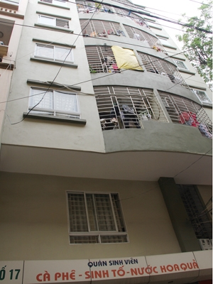 Một khu chung cư mini tại ngõ 336 Nguyễn Trãi, Hà Nội. Ảnh: Hòa Toan