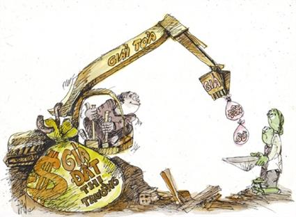 Muốn giá thị trường, đất phải thành tài sản