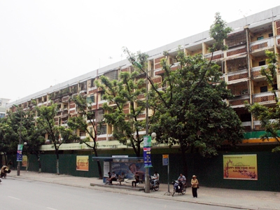 Dự án chung cư cũ D2 Giảng Võ thành chung cư bỏ hoang Ảnh: Tú Anh