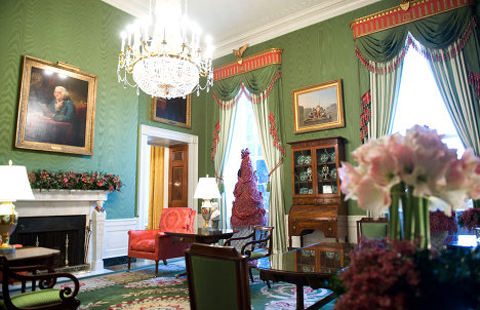 The Green Room has served as a parlor for teas and receptions.
