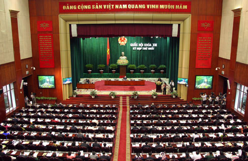 Quốc hội sẽ dành già nửa thời lượng của kỳ họp lần này (16 ngày) cho công tác xây dựng luật. Ảnh: Tiến Dũng