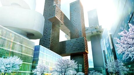 """Tòa nhà kiểu """"đâm ngang chém dọc"""" do công ty kiến trúc Đan Mạch thiết kế đang xây dựng tại thủ đô Seoul, Hàn Quốc"""