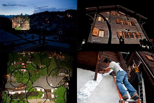 Ngôi làng ảo ảnh độc đáo ở Thụy Sĩ