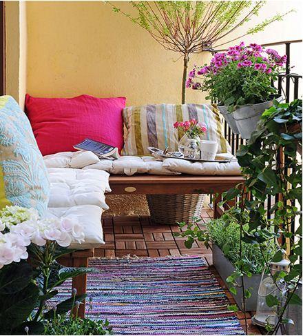 12 ý tưởng trang trí ban công lãng mạn mùa hè