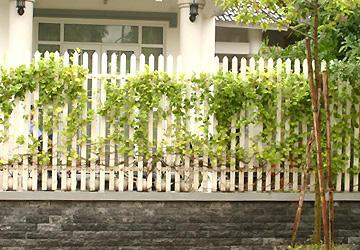 Các kiểu hàng rào cho nhà ống -