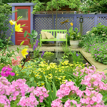 Sắc màu nghệ thuật trong decor vườn nhà