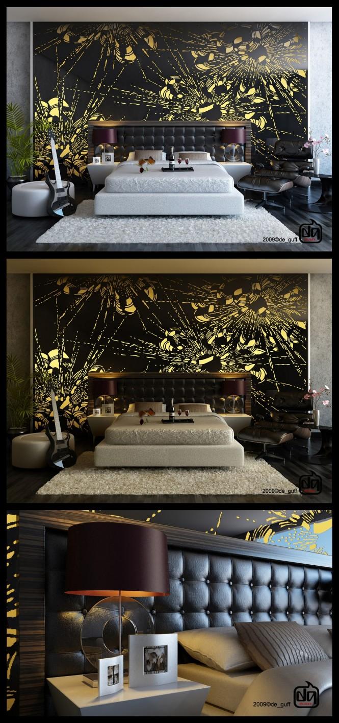 Trang trí đầu giường ấn tượng