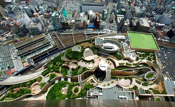 Công viên trên... nóc nhà siêu kinh ngạc ở Nhật Bản 1