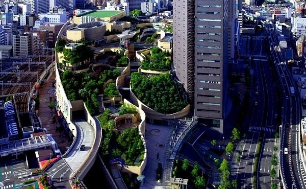 Công viên trên... nóc nhà siêu kinh ngạc ở Nhật Bản 4